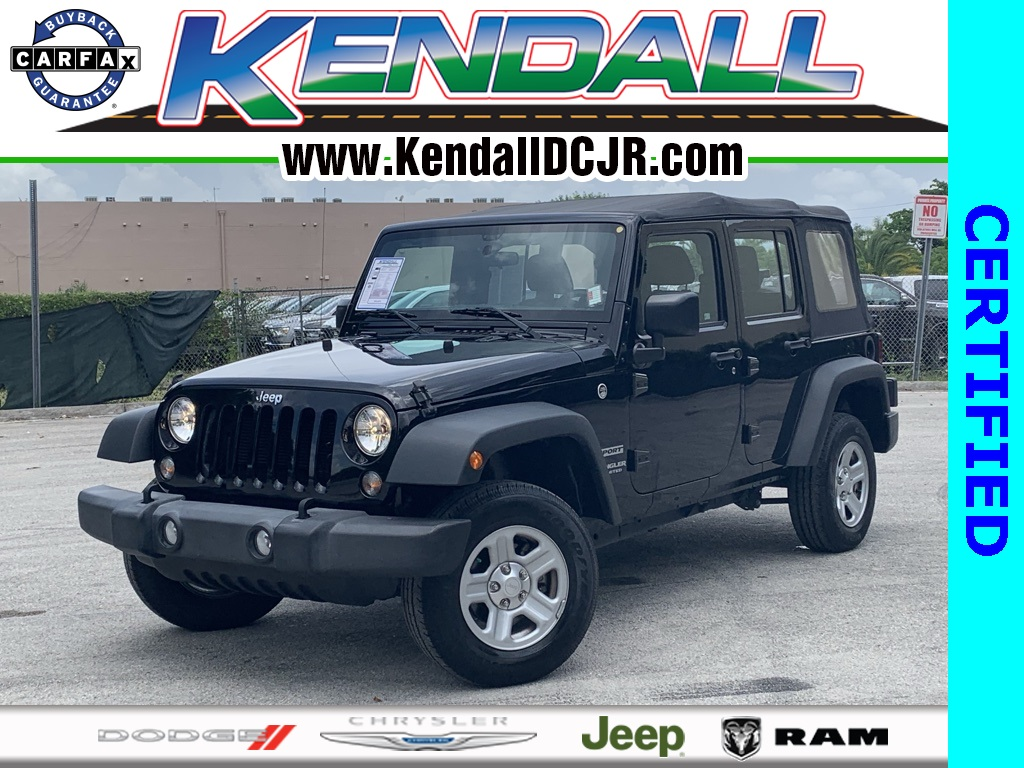 Certified Pre-Owned 2016 Jeep Wrangler Unlimited Sport